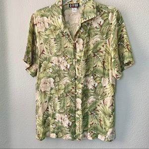Silk Tropical Top Vintage